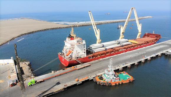 Puerto de Salaverry camino a la modernización, entre sus prioridades está asegurar la estabilidad de los barcos cuando se presente fuerte oleaje. (Foto: MTC)