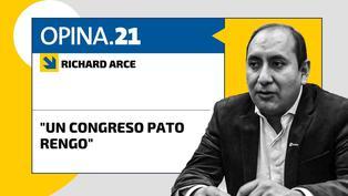 """Richard Arce: """"Un Congreso pato rengo"""""""
