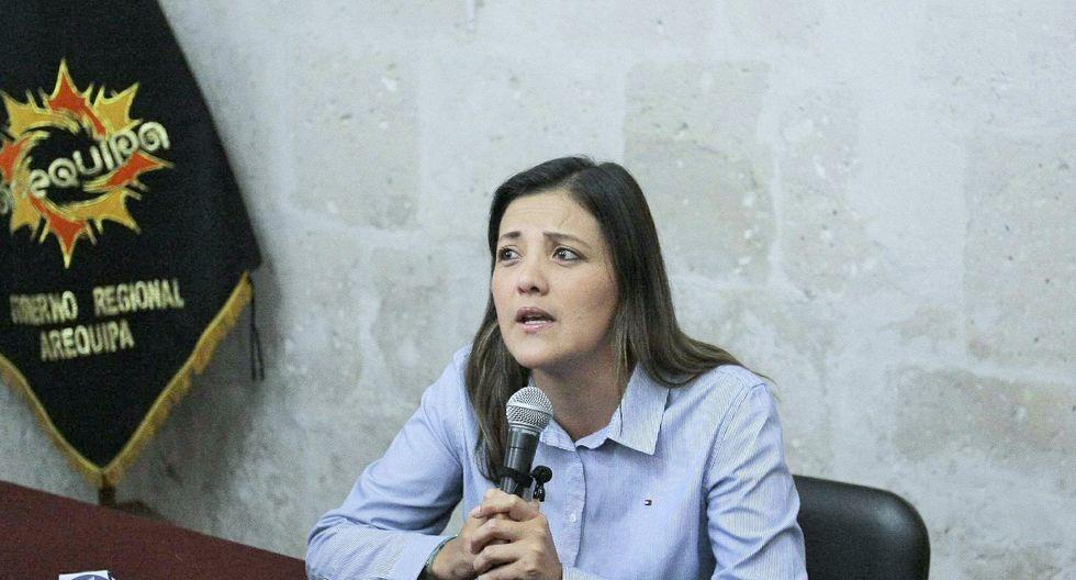Yamila Osorio, gobernadora de Arequipa, aseguró que acudirá a la Fiscalía cuando la notifiquen.