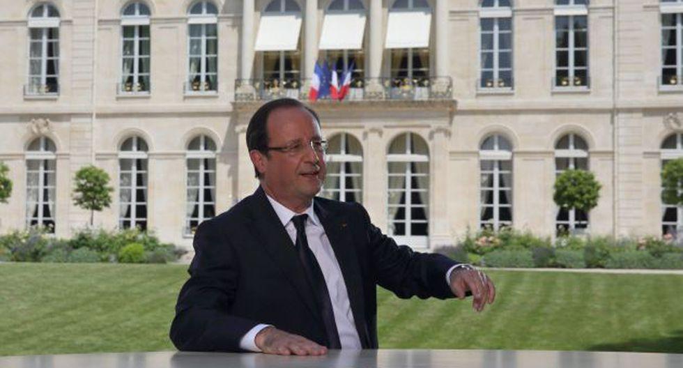 Hollande dio una entrevista con motivo de la fiesta nacional francesa. (EFE)