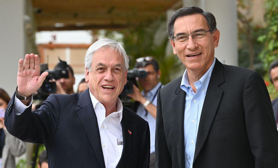 Sebastián Piñera y Martín Vizcarra (Foto: Cris Bouroncle)