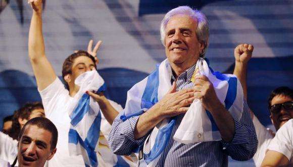 Tabaré Vázquez parte como favorito para el balotaje de noviembre. (Reuters)