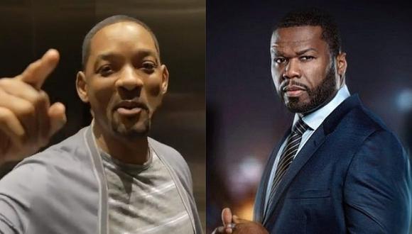 El rapero 50 Cent no dudó en difundir la conversación que tuvo con Will Smith y lo que este le respondió en Instagram (Foto: AFP)