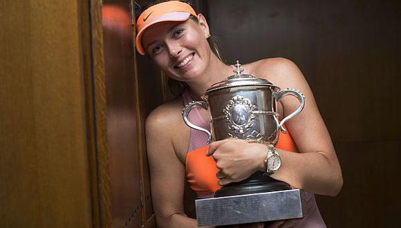 Maria Sharapova conquista su segundo Roland Garros. (AFP)