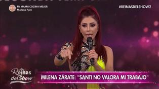 Milena Zárate se retiró llorando del set tras confrontación con Santi Lesmes