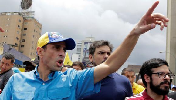Venezuela: Henrique Capriles llamó a desacatar estado de excepción decretado por Nicolás Maduro. (Reuters)