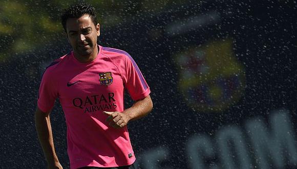 Xavi Hernández no se irá del Barcelona a fin de año. (AFP)