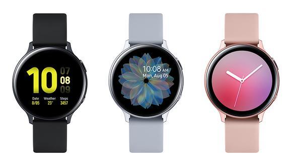 Así lucen los nuevos relojes de Samsung, el Galaxy Watch Active 2. Conoce todas sus características. (Foto: Samsung)