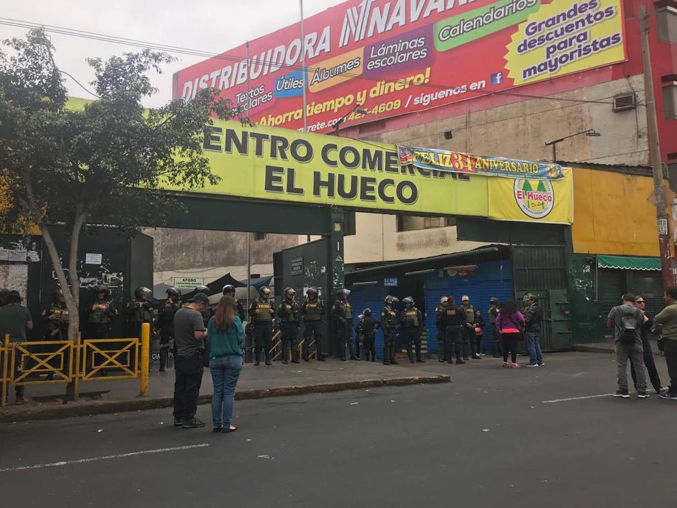 Operativo busca eliminar la piratería en CC. 'El Huaco'. (Pablo Vilcachagua)