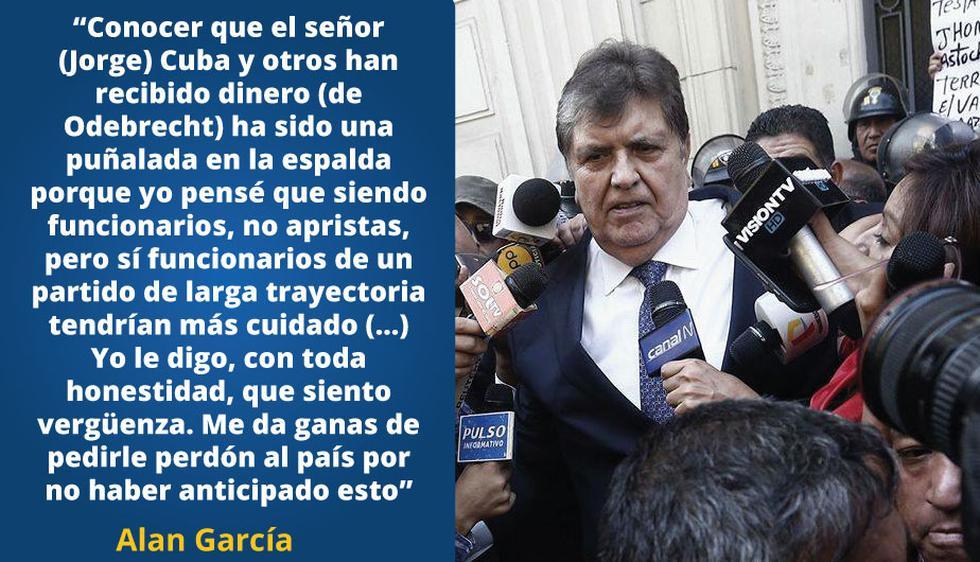Las frases más impactantes de Alan García a su retorno al Perú.
