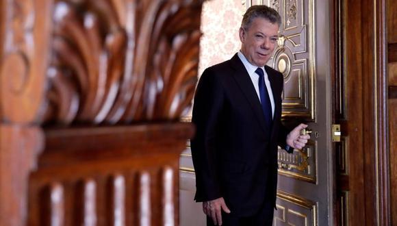 """Juan Manuel Santos presenta este martes en Madrid su libro """"La batalla por la paz"""". (Foto: EFE)"""