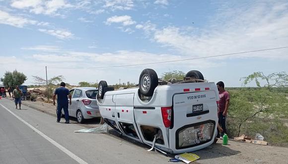 Piura: el conductor de la mototaxi y su pasajero salieron despedidos por los aires y murieron en el lugar del accidente. (Foto: Difusión)