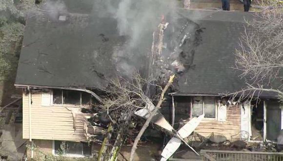 Estados Unidos: Avioneta se estrelló contra una vivienda en Denver. (Internet)
