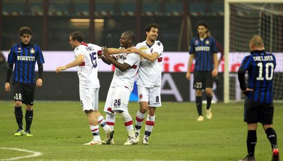 Los jugadores del Inter no pueden creer la situación que están viviendo. (Reuters)