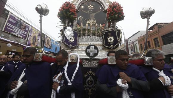 Señor de los Milagros visitó hospitales San Bartlomé y Arzobispo Loayza. (Foto: César Campos)