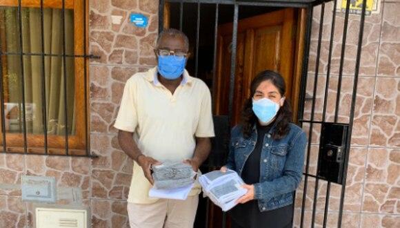 Las mascarillas de uso comunitario fueron distribuidas a los representantes de 29 organizaciones afroperuanas. (Foto Ministerio de Cultura)