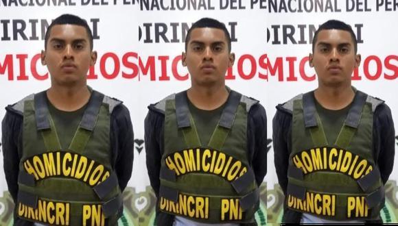 El detenido Clarence Aimar Hiencke Veliz (20), alías 'Loco Clarence', es considerado por la Policía como uno de los más sanguinarios raqueteros del distrito de San Juan de Lurigancho. (Foto: Composición GEC)