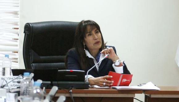 Magali Silva también informó de logros en su gestión.  (Nancy Dueñas)