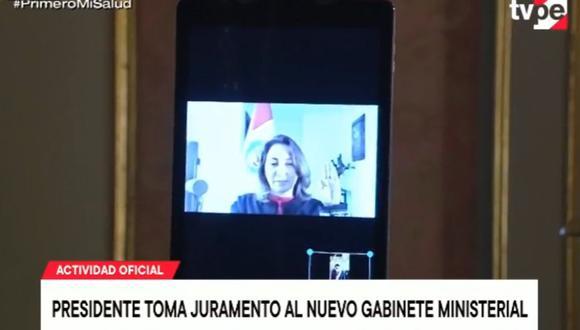 Rocío Barrios, nueva titular del Mincetur. (Captura: TV Perú)