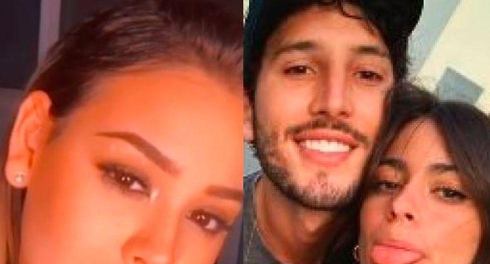 Fans de Danna Paola aseguran que ella terminó con romance de Sebastián Yatra y Tini Stoessel. (Composición)