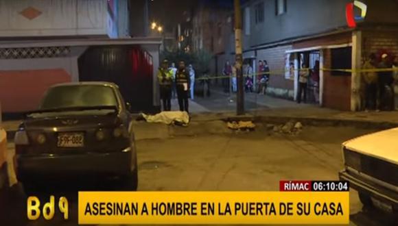 Luis Llontop Dávila murió al recibir disparos en la cabeza cuando estaba estaba por ingresar a su vivienda. (Captura: BDP)