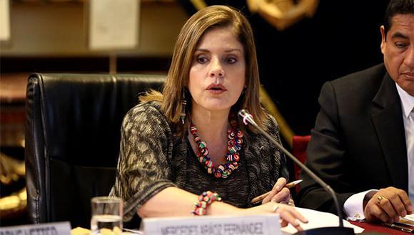 Mercedes Aráoz espera que no haya oposición para la realización del referéndum en el Perú. (Foto: Agencia Andina)