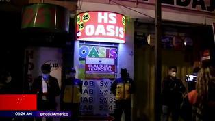 Independencia: clausuran prostíbulos clandestinos que operaban en pleno toque de queda