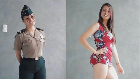 Joven policía es sancionada por posar en video con uniforme. (Tik Tok)