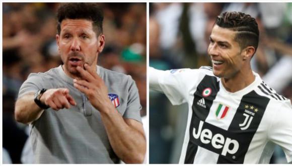 El técnico de Atlético de Madrid destacó las características de Cristiano previo a duelo por Champions League. (Foto: AFP)