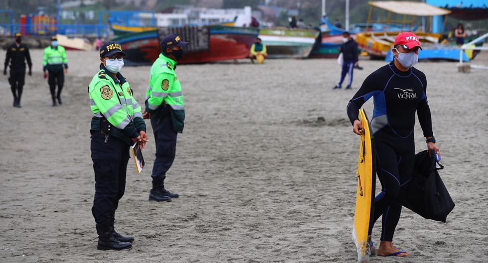 Tal como se aprecia en imágenes, algunos llegaron para practicar surf, otros para realizar recorridos en bicicletas y algunos se dedicaron a correr. (Fotos: Hugo Curotto/ @photo.gec)