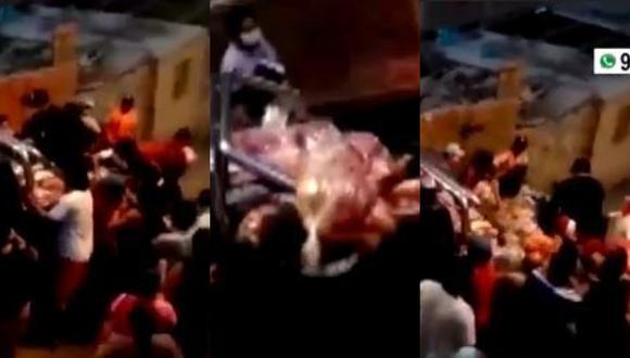 Robaron víveres de población vulnerable de Chosica. (Captura)