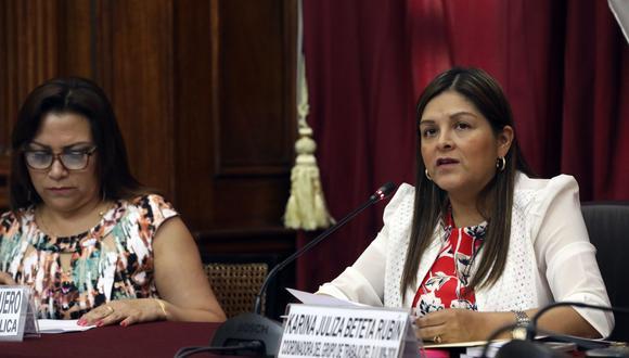 Karina Beteta fue contratada como asesora principal de la Comisión de Inteligencia del Parlamento. (Foto: Congreso)