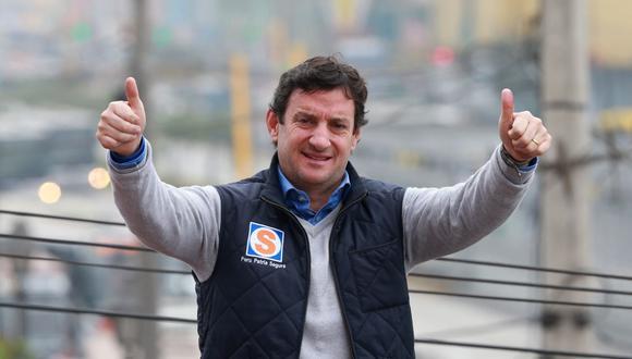 El candidato de Perú Patria Segura, Renzo Reggiardo, comentó sobre su liderazgo en la más reciente encuesta de Ipsos. (Foto: Andina)