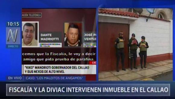 Interviene la sede de la Academia Deportiva Cantolao en La Punta. (Captura: Canal N)