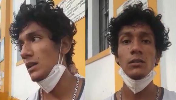 Luis Fernando Araujo Enríquez fue hallado este martes en el hospital Dos de Mayo, luego de tres días de ser reportado como desaparecido. (Captura de video/Aprodeh/Twitter)