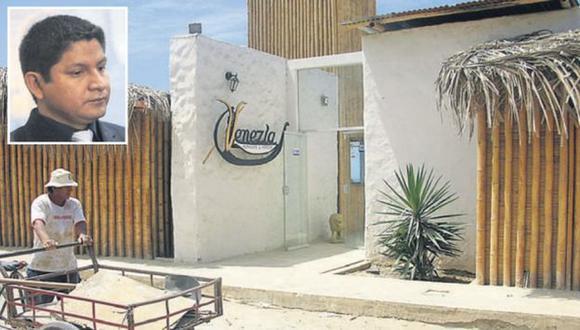 Local turístico Venezia sería de propiedad del jefe de Proregión, José Panta, pero que es administrado por su hermana.(Difusión)