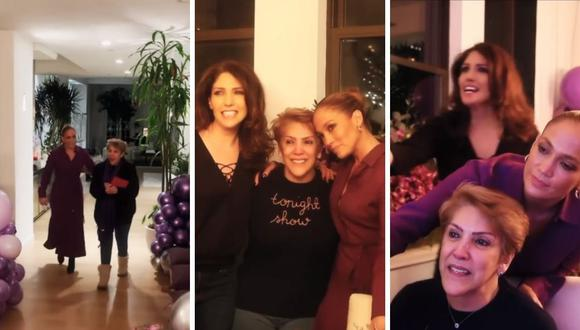 Mamá de Jennifer Lopez, Doña Lupe, se emocionó por fiesta sorpresa que le realizaron. (Foto: Instagram / @jlo).