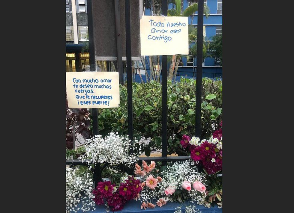 Flores para Eyvi es una iniciativa pacífica que se realizó en el Hospital Guillermo Almenara.