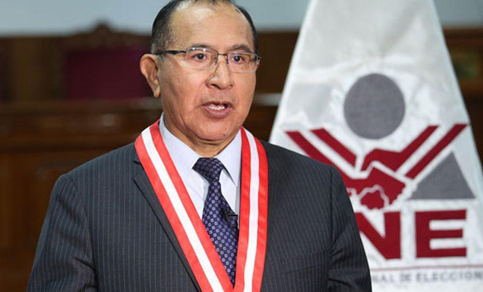 El presidente del JNE, Víctor Ticona Postigo, instó a los ciudadanos a informarse sobre las opciones que presenta el Referéndum Nacional y sobre la Segunda Elección Regional. (Foto:JNE)