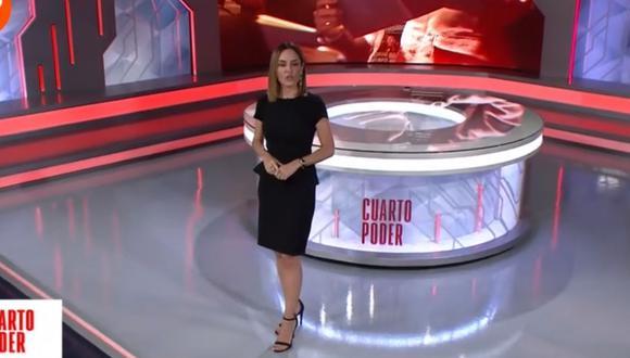 """Mávila Huertas es la nueva imagen de """"Cuarto Poder"""". (Foto: Captura de América Tv)"""