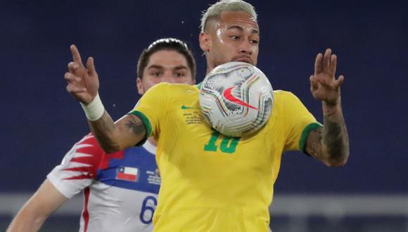 Neymar suma dos goles en la Copa América, uno se lo hizo a Perú en la fase de grupos. (Foto: EFE)
