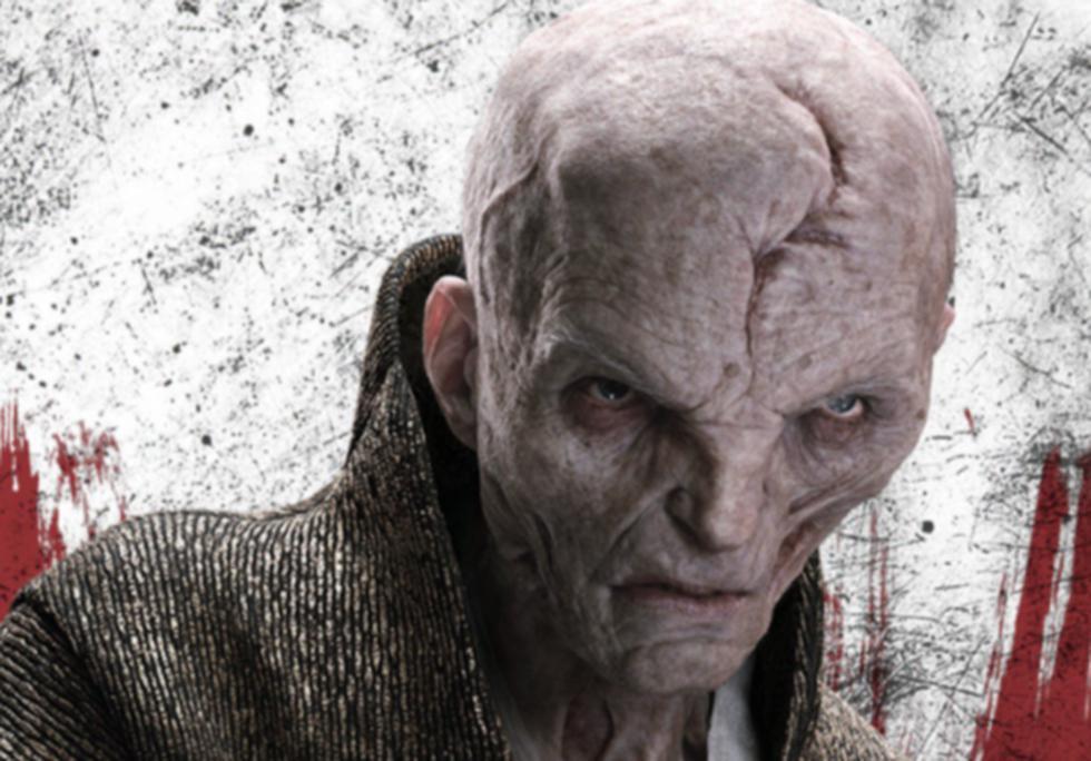 'Star Wars: Los Últimos Jedi': El 'líder supremo Snoke' es una de los principales villanos de la película. (Difusión)