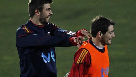 Gerard Piqué e Iker Casillas fueron campeones del Mundo con España