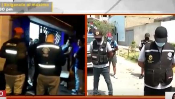 Dos fiestas clandestinas se llevaron a cabo en Comas a pocas horas de los comicios. Foto: captura Latina