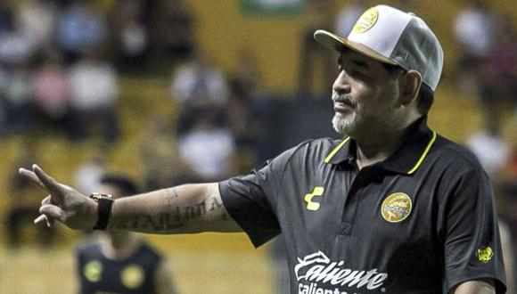 Diego Maradona es entrenador de Dorados de Sinaloa desde septiembre pasado. (Foto: AFP)