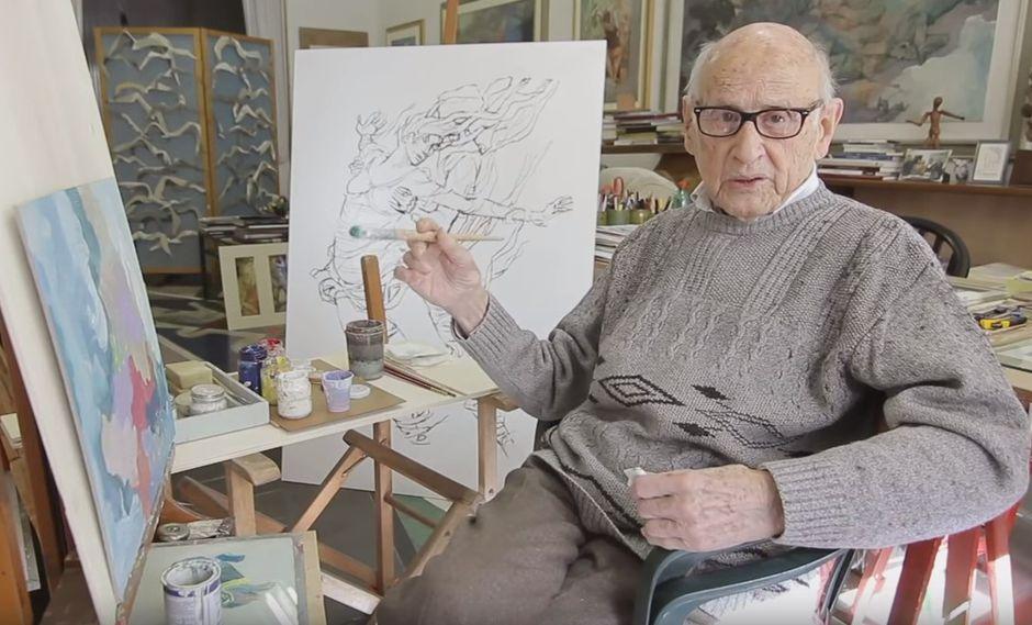 Giorgio Michetti con 105 años, se convirtió en el youtuber más longevo (Captura)