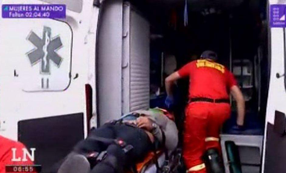 Motociclista sufre accidente en la Costa Verde (Captura: América Noticias)