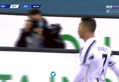 Juventus vs. Hellas Verona: Cristiano Ronaldo anota para celebrar el 1-0 de los binaconeros | VIDEO