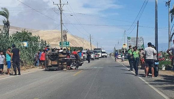 Ambas unidades colisionaron en la vía La Punta – El Chorro