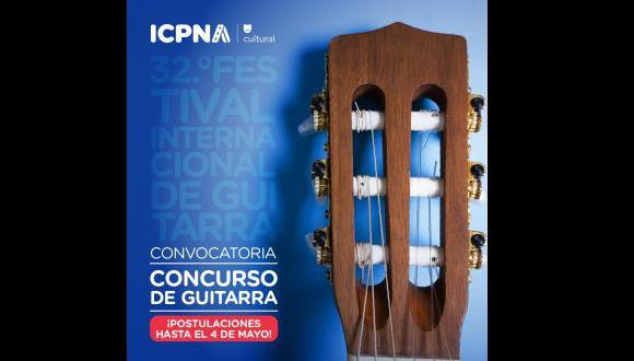Este certamen forma parte de las actividades del trigésimo segundo Festival Internacional de Guitarra que realiza el ICPNA. (Foto: ICPNA Cultural)